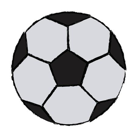 soccer ball for football sports game equipment object vector illustration