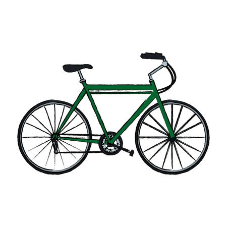 spoke: bicycle sport recreational transport wheel chain vector illustration