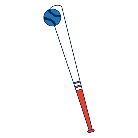 baseball bat and ball game hardball equipment vector illustration Illusztráció