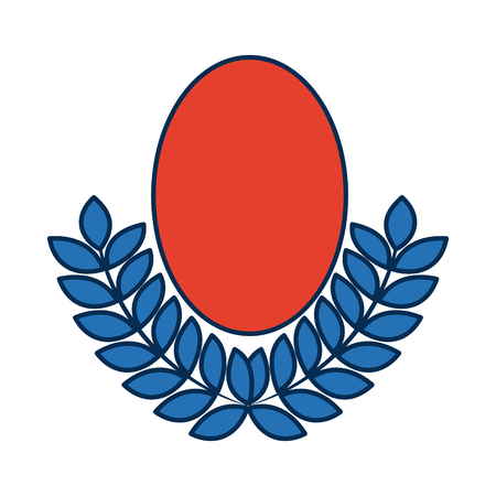 Badge wreath laurel sport decoration winner symbol vector illustration Illustration