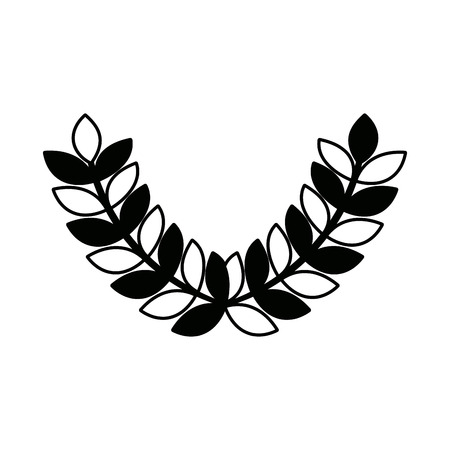 wreath laurel sport decoration winner symbol vector illustration