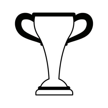 A sport trophy championship winner symbol vector illustration. Stok Fotoğraf - 83172455