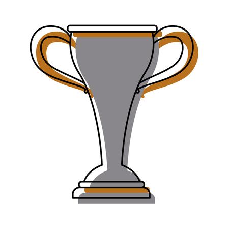A sport trophy championship winner symbol vector illustration.