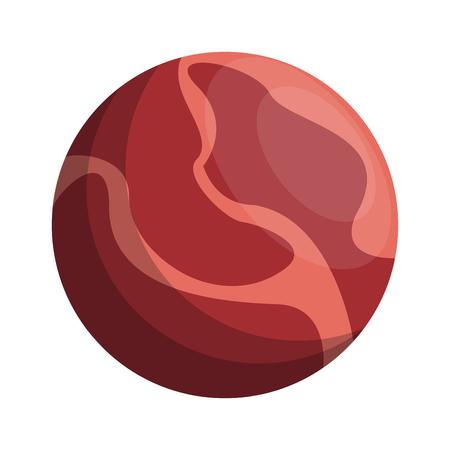 celestial body: red celestial body icon image vector illustration design