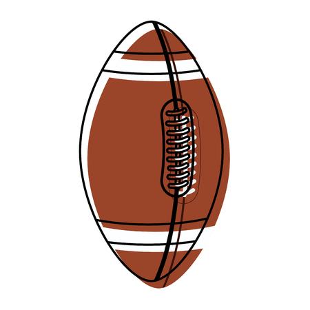 american football ball equipment competitive sport vector illustration Illustration