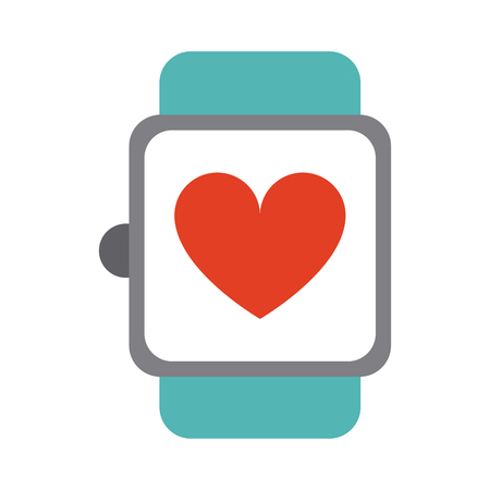 heart rate wrist monitor icon image vector illustration design Illustration