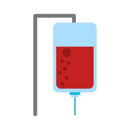 bolsa con la imagen de la sangre icono de diseño de ilustración vectorial Ilustración de vector