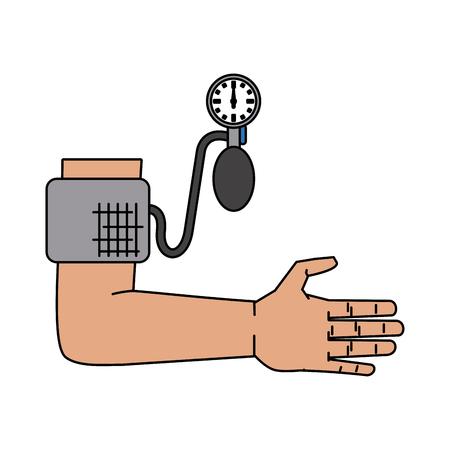 Blutdruckmessgerät Gesundheitswesen im Zusammenhang mit Symbol Bild Vektor Illustration Design Vektorgrafik