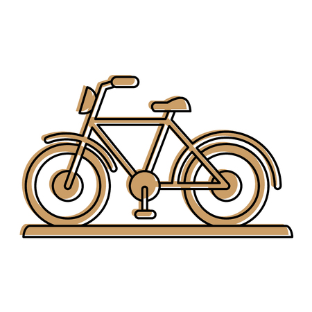 bike or bicycle sideview icon image vector illustration design  beige color Illustration