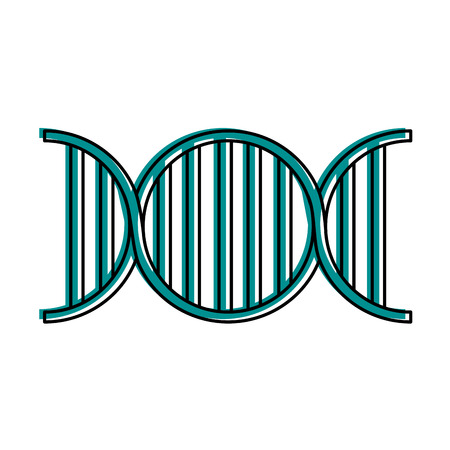 dna strand icon image vector illustration design  blue color