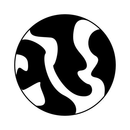 celestial body: celestial body icon image vector illustration design  black and white