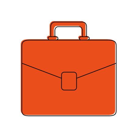 money packs: briefcase business icon image vector illustration design  orange color