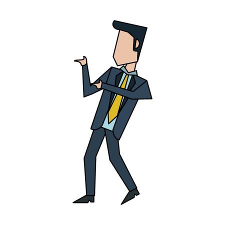 businessman talking and moving  avatar icon image vector illustration design Illustration