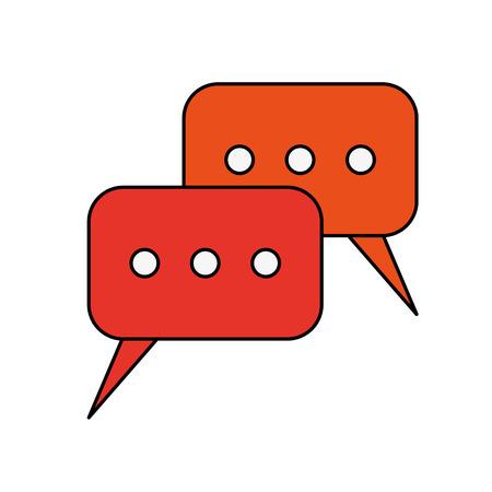 instant messaging conversation bubbles icon image vector illustration design Illustration