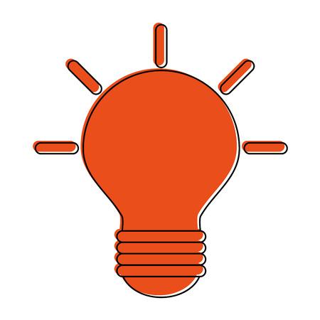 regular lightbulb icon image vector illustration design  orange color