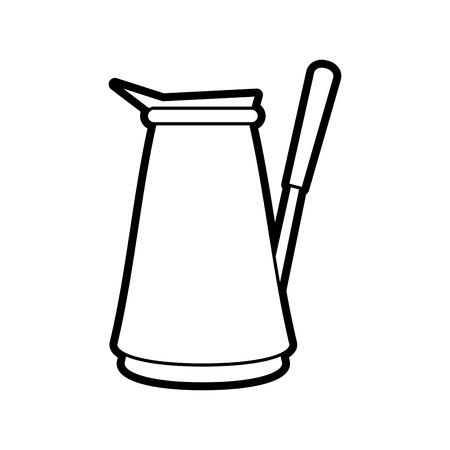 roasting: turkish pot coffee related icon image vector illustration design black line