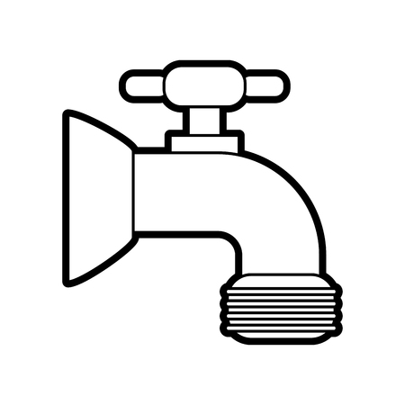 faucet sideview icon image vector illustration design black line Illustration