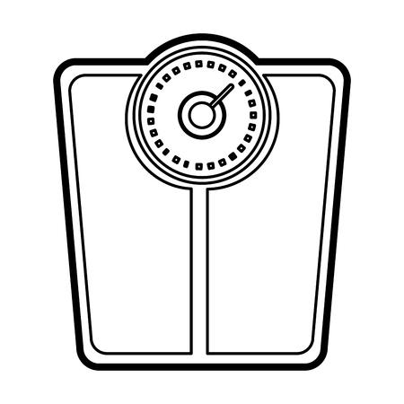 weight scale icon image vector illustration design black line Illustration