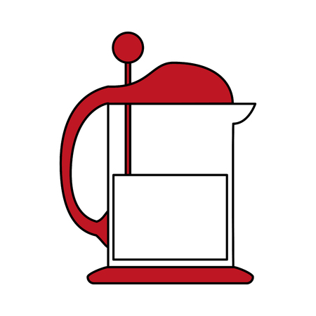 french press coffee related icon image vector illustration design one color Illustration