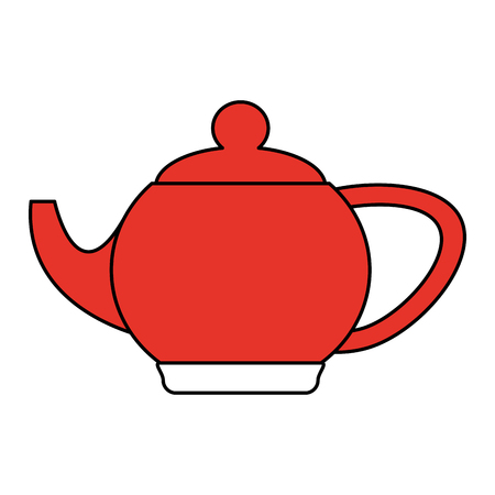 kettle or teapot icon image vector illustration design one color