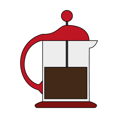 french press coffee related icon image vector illustration design Illustration