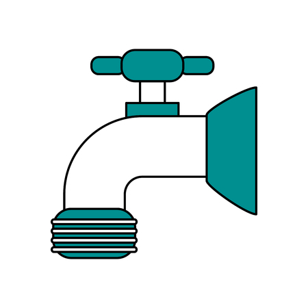 faucet sideview icon image vector illustration design one color