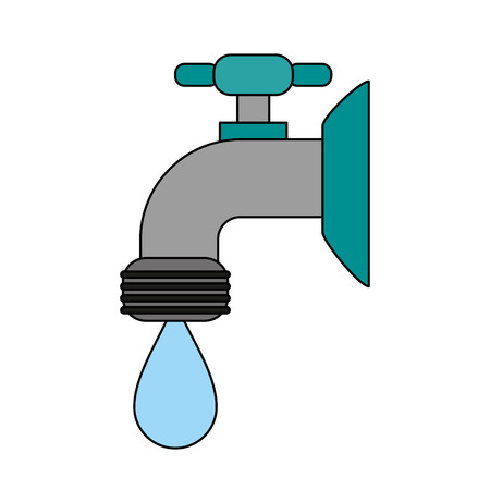 faucet sideview icon image vector illustration design Illustration