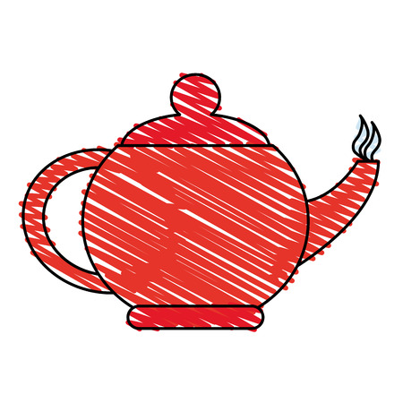 thermal: kettle or teapot icon image vector illustration design sketch style