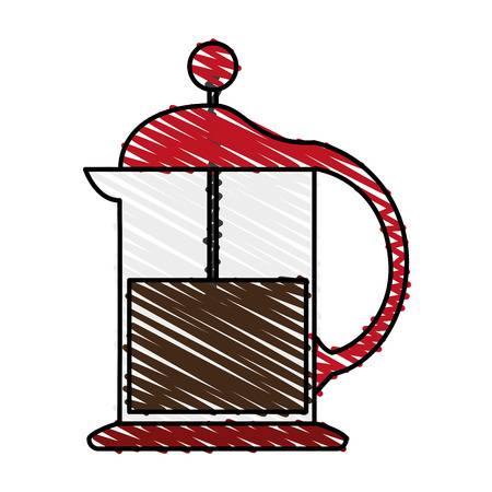roasting: french press coffee related icon image vector illustration design sketch style Illustration