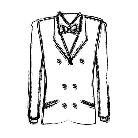 tuxedo with bow tie elegant fashion suit vector illustration