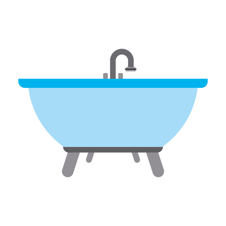 sink: bathtub bathware item icon image vector illustration design Illustration