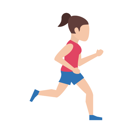 woman running or jogging icon image vector illustration design