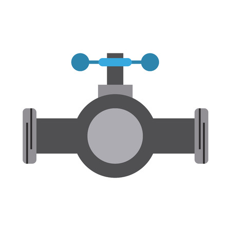 valve and handle with pipe icon image vector illustration design