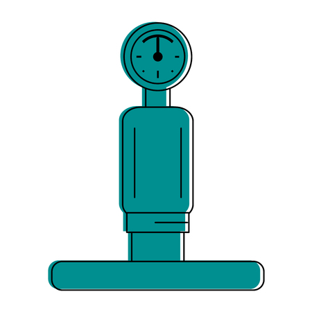 gauge and pipe icon image vector illustration design blue color