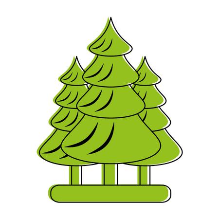 forest landscape icon image vector illustration design  green color