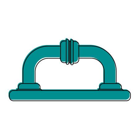 pipe or drain icon image vector illustration design  blue color Ilustrace
