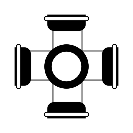 pipe or drain icon image vector illustration design  black and white