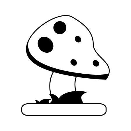 wild mushroom icon image vector illustration design  black and white