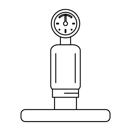 gauge and pipe icon image vector illustration design black and white