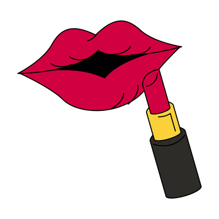 Female lips icon image vector illustration design