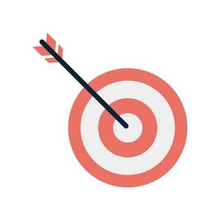 bullseye lub dartboard ikonę obrazu projektu ilustracji wektorowych