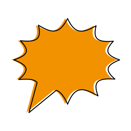 blank onomatopoeia bubble icon image vector illustration design  yellow color