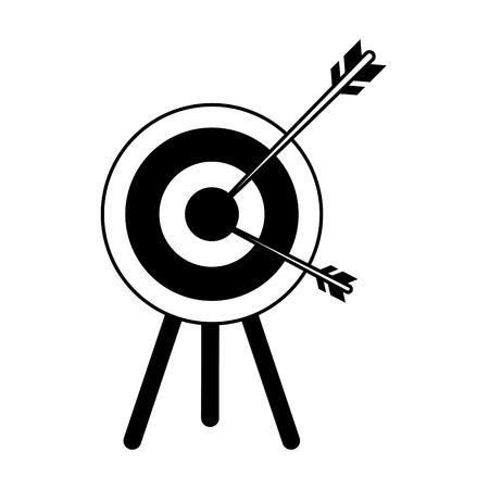 bullseye or dartboard icon image vector illustration design black and white