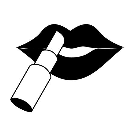 eye close up: female lips icon image vector illustration design  black and white