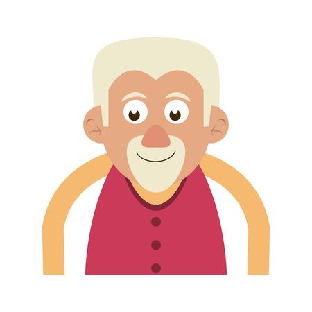 cute happy elderly man icon image vector illustration design