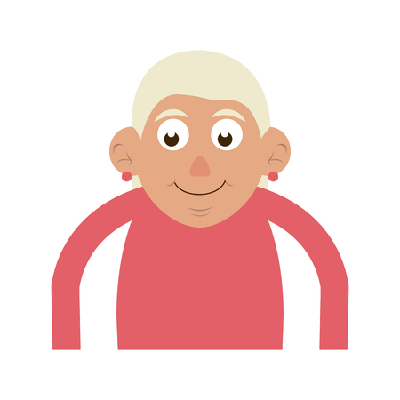 cute happy elderly woman icon image vector illustration design Stock Vector - 83367772