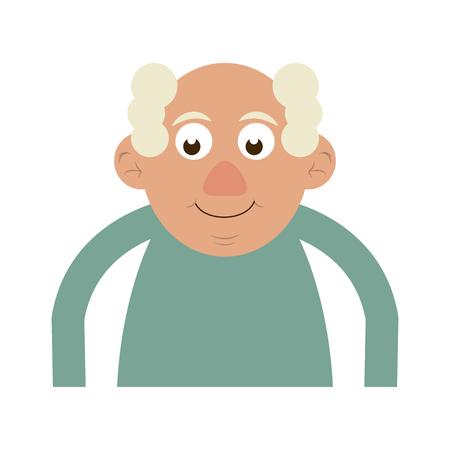 cute happy elderly man icon image vector illustration design Stock Vector - 83367771