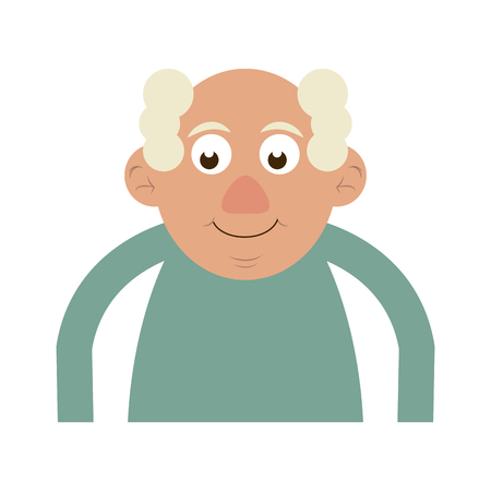 cute happy elderly man icon image vector illustration design