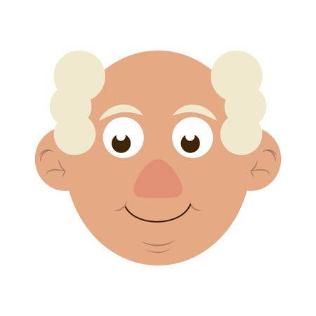 cute happy elderly man icon image vector illustration design Stock Vector - 83367915