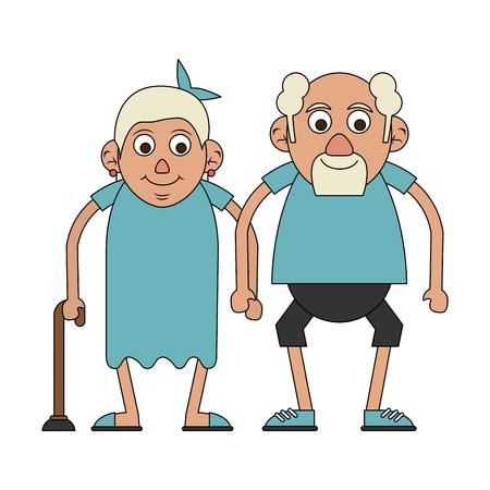 cute elderly people icon image vector illustration design